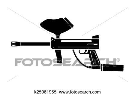 Paintball Gun Silhouette Clipart K25061955 Fotosearch