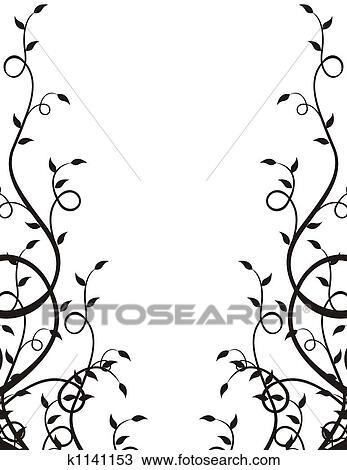 Drawing Of Plants Frame K1141153