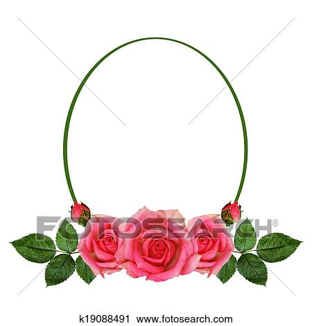 Stock Photography of Rose flowers arrangement and frame k19088491 ...