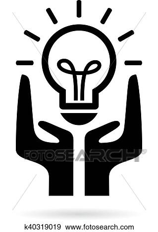 Clip Art Of Save Electricity Symbol K40319019 Search Clipart
