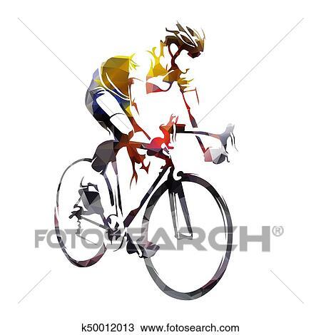clipart estrada ciclismo abstratos geomã ricas ciclista