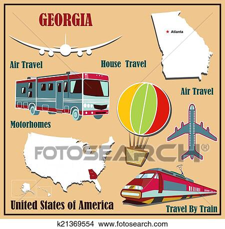Illustration Of Concept Travel By The Train, Luggage And Passport Royalty  Free Cliparts, Vectors, And Stock Illustration. Image 61116300.