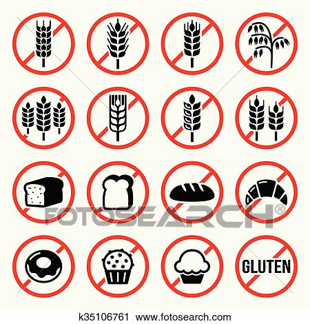 gluten free signs no wheat clipart