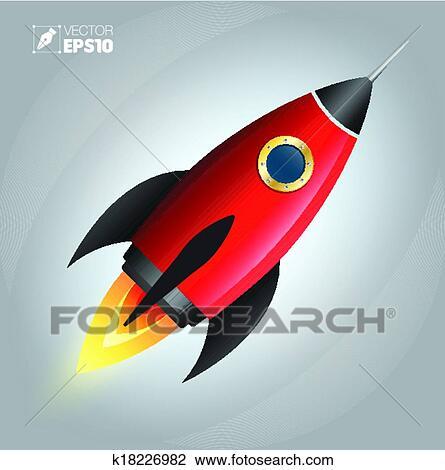 Razzo nave spaziale cartone animato cute clipart k