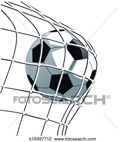 clipart of soccer goal k16497712 search clip art illustration rh fotosearch com soccer goal post clipart soccer goal clipart black and white