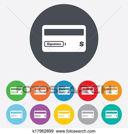 Stock Illustration Of Credit Card Sign Icon Debit Card Symbol