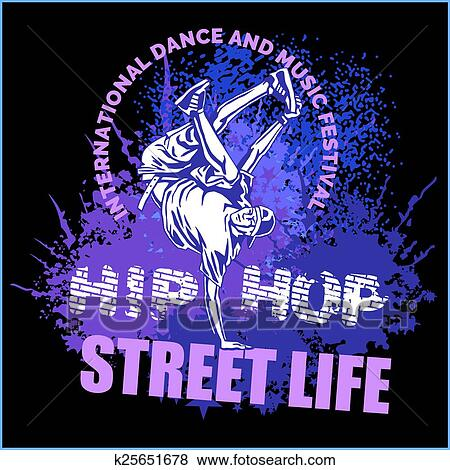 Clip Art Of Hip Hop Dancer On White Background K25651678