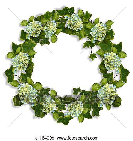 stock image of ivy and hydrangea wreath k1164095 search stock
