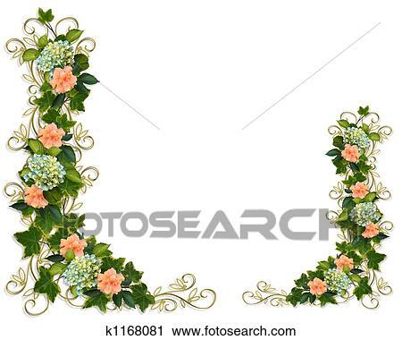 Ivy Floral Borders Clip Art K1168081 Fotosearch