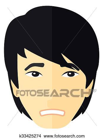 clipart jovem envergonhado man k33425274 busca de ilustrações
