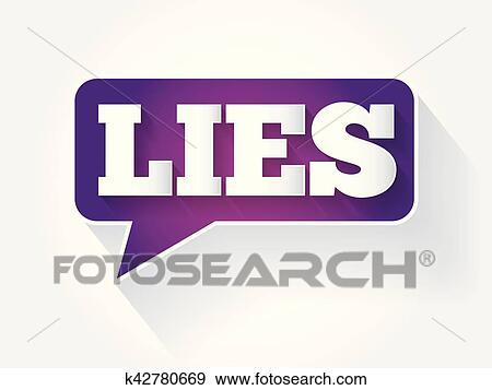 clip art of lies text message bubble k42780669 search clipart