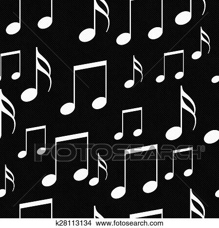 Clipart Je Amour Musique Concept Noir Blanc Design K20908862