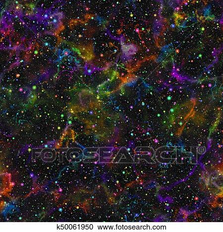étoiles en Arc-en-ciel Couleurs dans-et Domaine Outdoor Galaxie Nappe