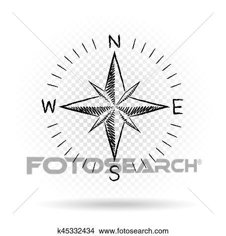 Clipart boussole dessin directions sombre k45332434 - Dessin sombre ...