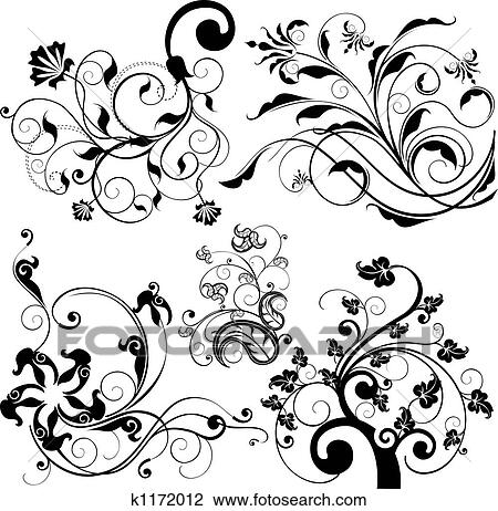 clip art of floral design elements k1172012 search clipart Graphic Art Designs clip art floral design elements fotosearch search clipart illustration posters drawings