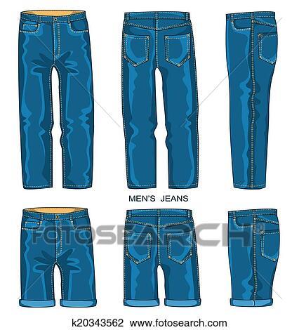 pantalon Fotosearch Clipart et jean des homme short Recherchez XTTq64nU