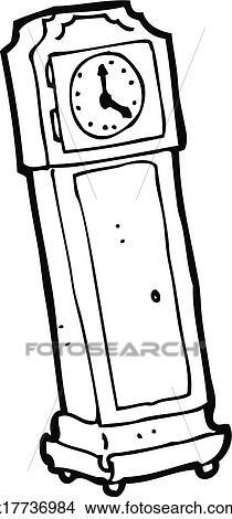 Clipart dessin anim horloge grand p re k17736984 recherchez des clip arts des - Dessin grand pere ...