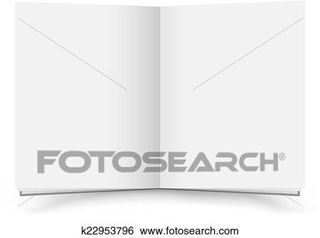 Ouvert Livre Blanc Clipart