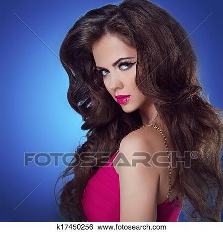 Brunette girl model