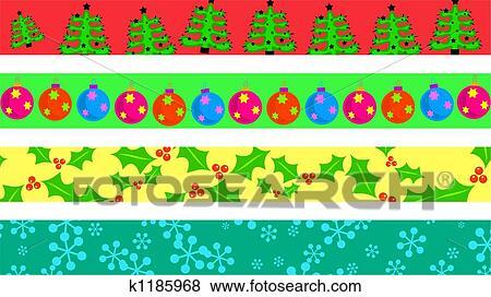 Christmas Boarders.Christmas Borders Stock Illustration