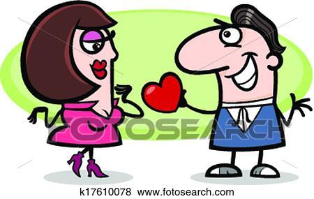 Clipart Couple Amoureux Dessin Anime Illustration K17610078