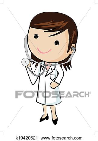 Doctor And Stethoscope Clipart K19420521 Fotosearch