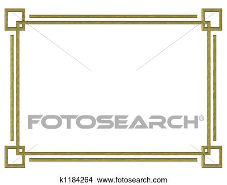 drawings of gold border design k1184264 search clip art