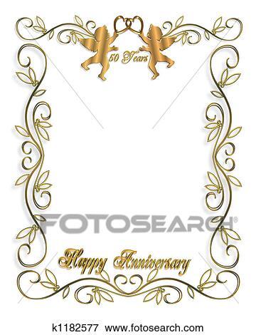 Stock Illustration Goldene Hochzeit Karte K1182577 Suche