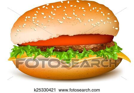 clipart of hamburger k25330421 search clip art illustration