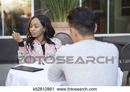 Speed dating stock photo