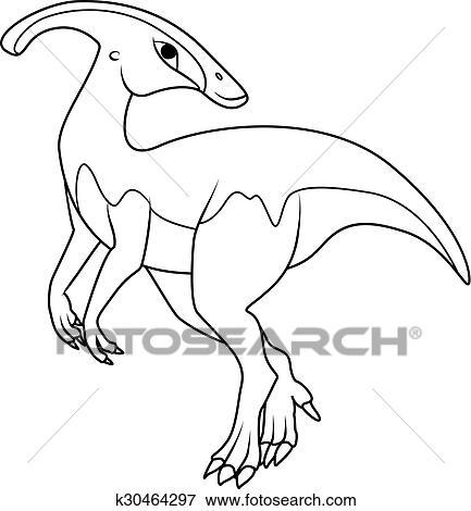 Coloring Book Parasaurolophus Dinosaur Clip Art