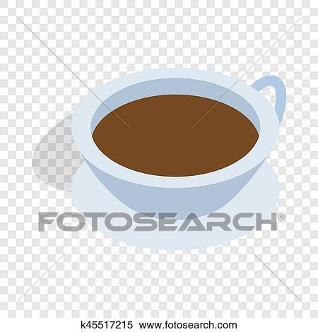 Cup of tea isometric icon Stock Illustration