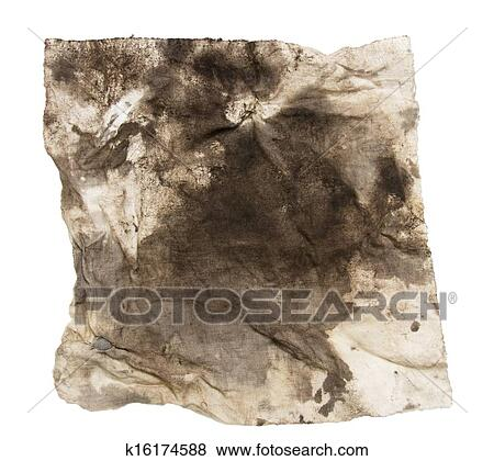 160c50ad680be Dirty rag on a white background Stock Photo | k16174588 | Fotosearch