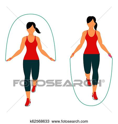 Fitness Exercises For Strong And Beautiful Body Clipart K62568633 Fotosearch