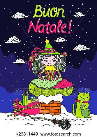 Italiano babbo natale befana clip art k23811449 fotosearch