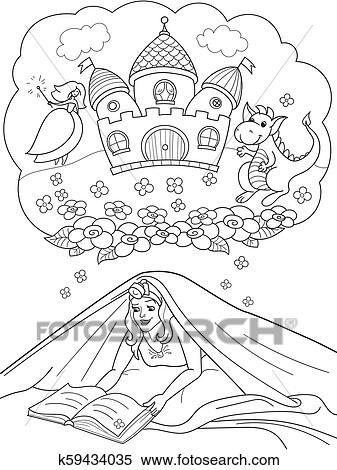 42e7cb60e Lectura de la muchacha, libro, con, linterna, debajo, el, manta, cama Banco  de Fotografías