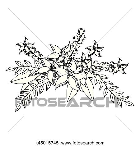 Flower Flower Crown Clipart Black And White