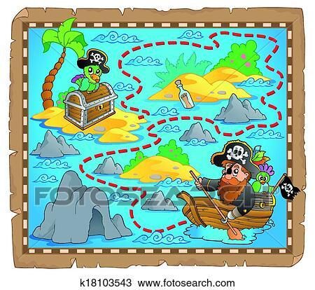 لعبة مكعبات خريطة الكنز