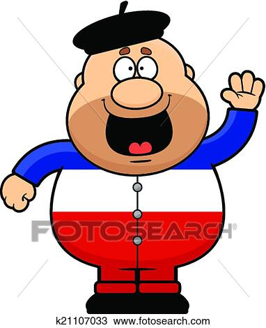 clipart of cartoon frenchman waving k21107033 search clip art rh fotosearch com france map clip art French Artist Clip Art