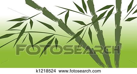 Drawings Of Design Of Chinese Bamboo Trees K1218524 Search Clip