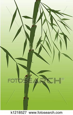 Stock Illustration Of Design Of Chinese Bamboo Trees K1218527