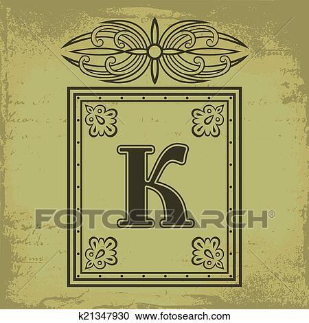 Clipart Of Letter K K21347930 Search Clip Art Illustration Murals