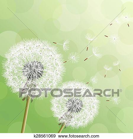 Sfondo Verde Con Due Fiori D Clip Art K28561069 Fotosearch