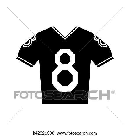 ec65e2291 Clip Art - silhouette jersey american football tshirt uniform. Fotosearch