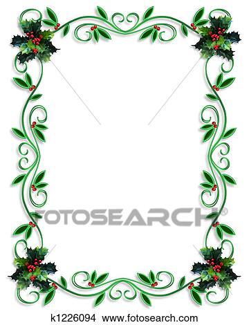 Christmas Boarder.Christmas Border Frame Stock Illustration