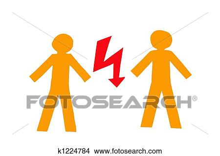 Drawings Of Conflict K1224784 Search Clip Art Illustrations Wall