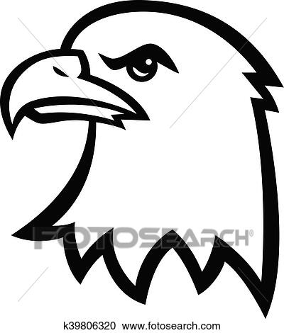 clipart of eagle head k39806320 search clip art illustration rh fotosearch com eagle head clipart black and white vector eagle head clip art images