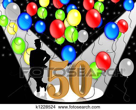 Dibujos cumplea os invitaci n 50 a os k1228524 - Cumpleanos 50 anos hombre ...