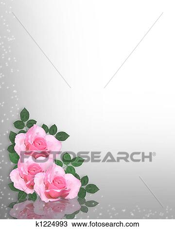 drawing of pink roses background or template k1224993 search