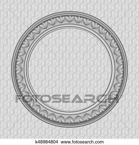 Clipart of Vector round frame k48984804 - Search Clip Art ...